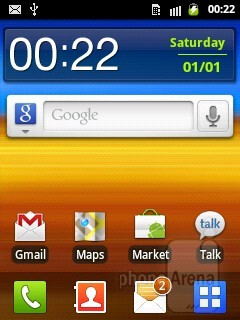 Android 2.3 Gingerbread on the Samsung Galaxy Y is with the TouchWiz overlay on top of it - Samsung Galaxy Y Review