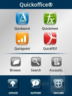 QuickOffice - Android 2.3 Gingerbread on the Samsung Galaxy Y is with the TouchWiz overlay on top of it - Samsung Galaxy Y Review