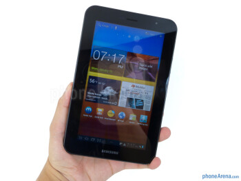 The Samsung Galaxy Tab 7.0 Plus is compact enough to hold with one hand - Samsung Galaxy Tab 7.0 Plus Review