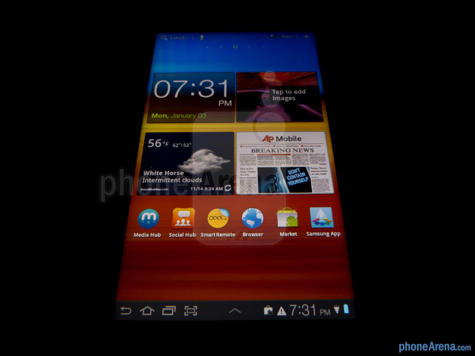 """The Samsung Galaxy Tab 7.0 Plus uses a 7"""" PLS LCD display - Samsung Galaxy Tab 7.0 Plus Review"""