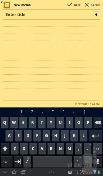 Virtual keyboards of the Samsung Galaxy Tab 7.0 Plus - Samsung Galaxy Tab 7.0 Plus Review