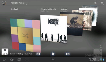 The music player - Samsung Galaxy Tab 7.0 Plus Review
