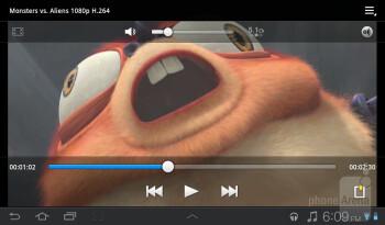 Video playback - Samsung Galaxy Tab 7.0 Plus Review