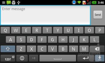 On-screen keyboard - LG Optimus Sol Review