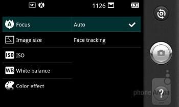 Camera interface - LG Optimus Sol Review