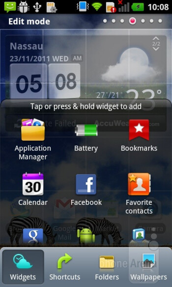 LG's Optimus UI installed on top of Android 2.3.4 Gingerbread is what runs on the LG Optimus Sol - LG Optimus Sol Review