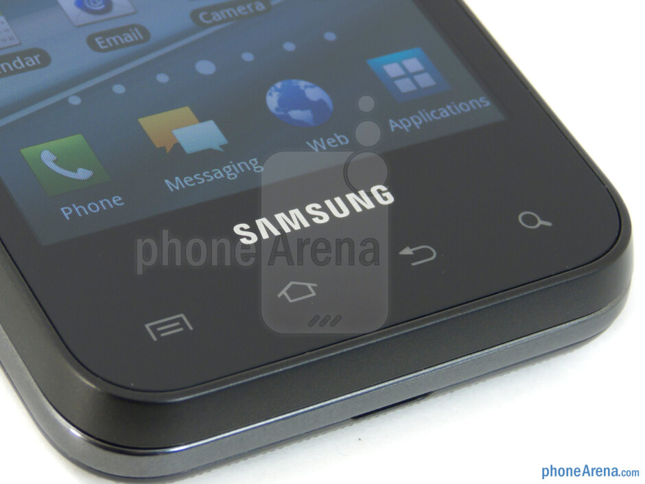 Android capacitive buttons - Samsung Captivate Glide Review