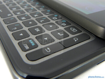 The 4-row landscape keyboard - Samsung Captivate Glide Review