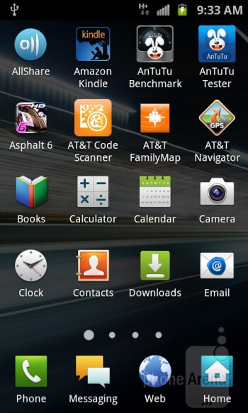The Samsung Captivate Glide features the same old TouchWiz UI - Samsung Captivate Glide Review