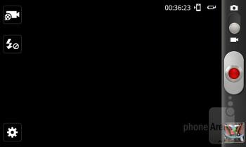 Camera interface - Samsung Captivate Glide Review