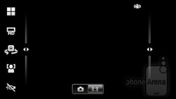 Camera interface - Sony Ericsson Xperia pro Review