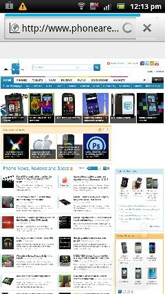 We have a very good browser on the Sony Ericsson Xperia pro - Sony Ericsson Xperia pro Review