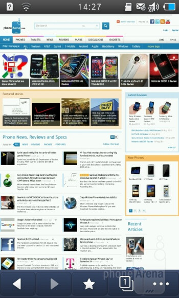 Web browser - Samsung Wave 3 Review