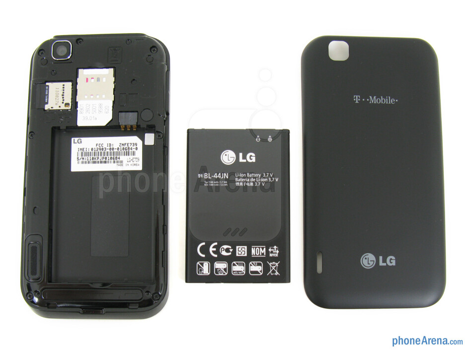 Battery cover removed - T-Mobile myTouch Review