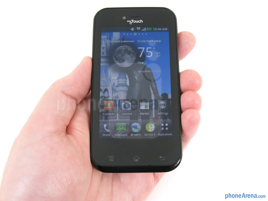 The T-Mobile myTouch actually feels well-made and sturdy for the price, though plastic is used throughout - T-Mobile myTouch Review