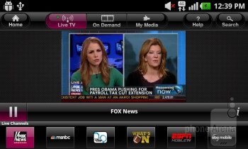 You can play pre-recorded videos or stream live TV channels with the T-Mobile TV HD app - T-Mobile myTouch Review