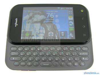The QWERTY keyboard is spring-loaded - T-Mobile myTouch Q Review
