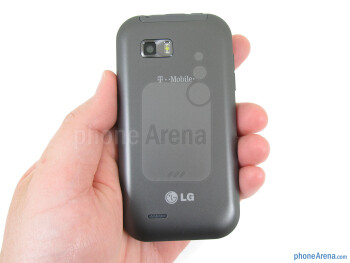The overall feeling of the T-Mobile myTouch Q is pleasing, as it fits well in the hand - T-Mobile myTouch Q Review