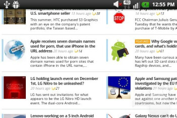The WebKit based browser works well - T-Mobile myTouch Q Review