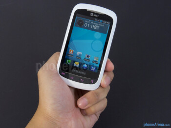 The Samsung DoubleTime feels a bit weighty in the hand - Samsung DoubleTime Review