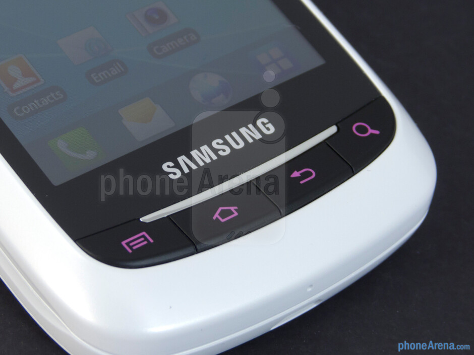 Android buttons - Samsung DoubleTime Review