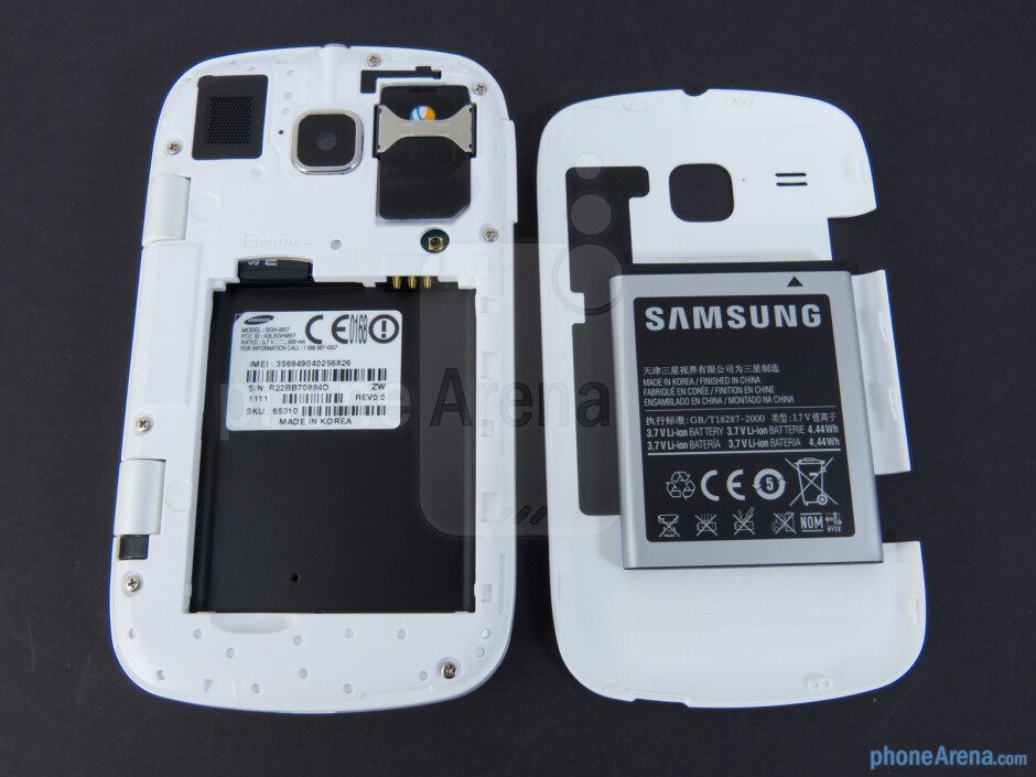 Battery compartment - Samsung DoubleTime Review