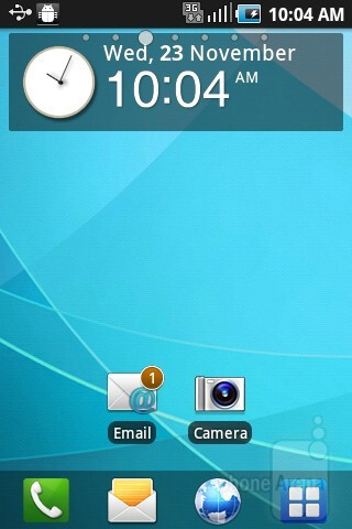 The Samsung DoubeTime is running the TouchWiz UI - Samsung DoubleTime Review