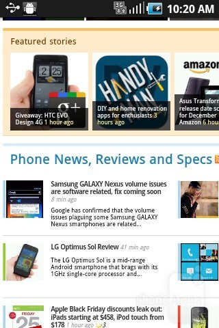Web browsing - Samsung DoubleTime Review