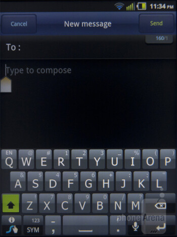 Swype - On-screen keyboards - Pantech Pocket Review