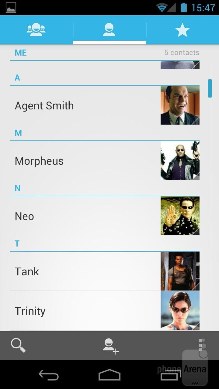 The People app - Samsung Galaxy Nexus Review
