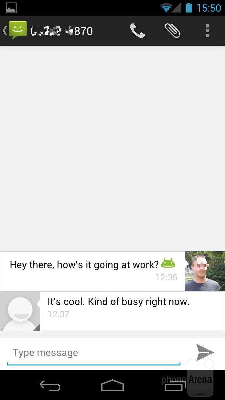 Messaging - Samsung Galaxy Nexus Review