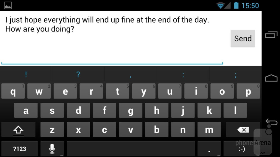 The on-screen QWERTY keyboard has been vastly improved - Samsung Galaxy Nexus Review