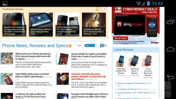The ICS web browser on the Samsung Galaxy Nexus - Samsung Galaxy S III vs Samsung Galaxy Nexus