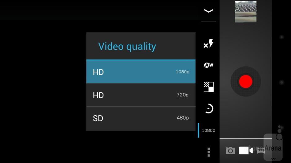 The new camera interface - Samsung Galaxy Nexus Review