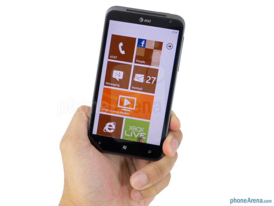 The HTC Titan has a sturdy metallic casing, relatively slim figure, and clean appearance - HTC Titan Review