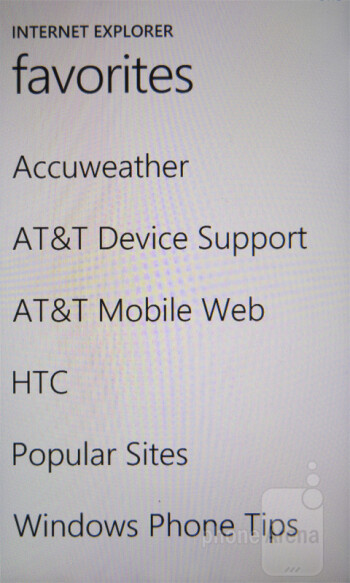 Internet surfing with the HTC Titan - HTC Titan Review
