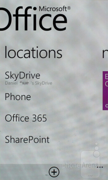 SkyDrive - Samsung Omnia W Review