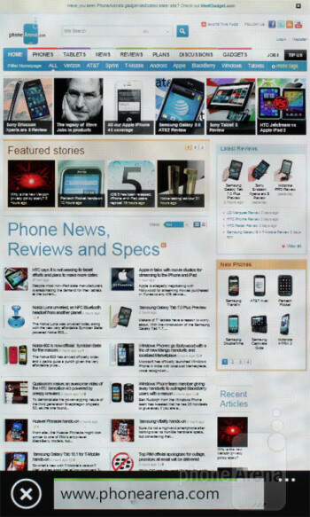 The Internet Explorer 9 mobile browser is filthy smooth - Samsung Omnia W Review