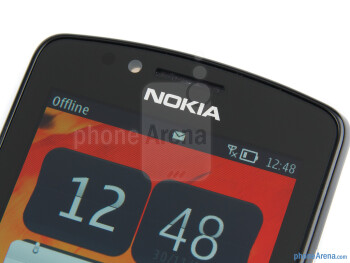 "The 3.2"" ClearBlack AMOLED display boasts nice, saturated colors - Nokia 700 Review"