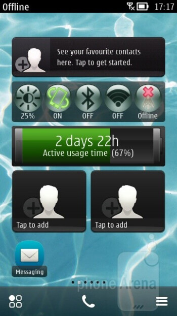 The interface of the Nokia 700 - Nokia 700 Review