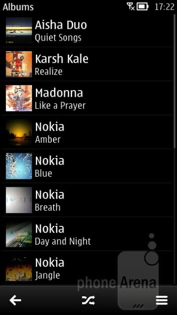 Music player - Nokia 700 Review