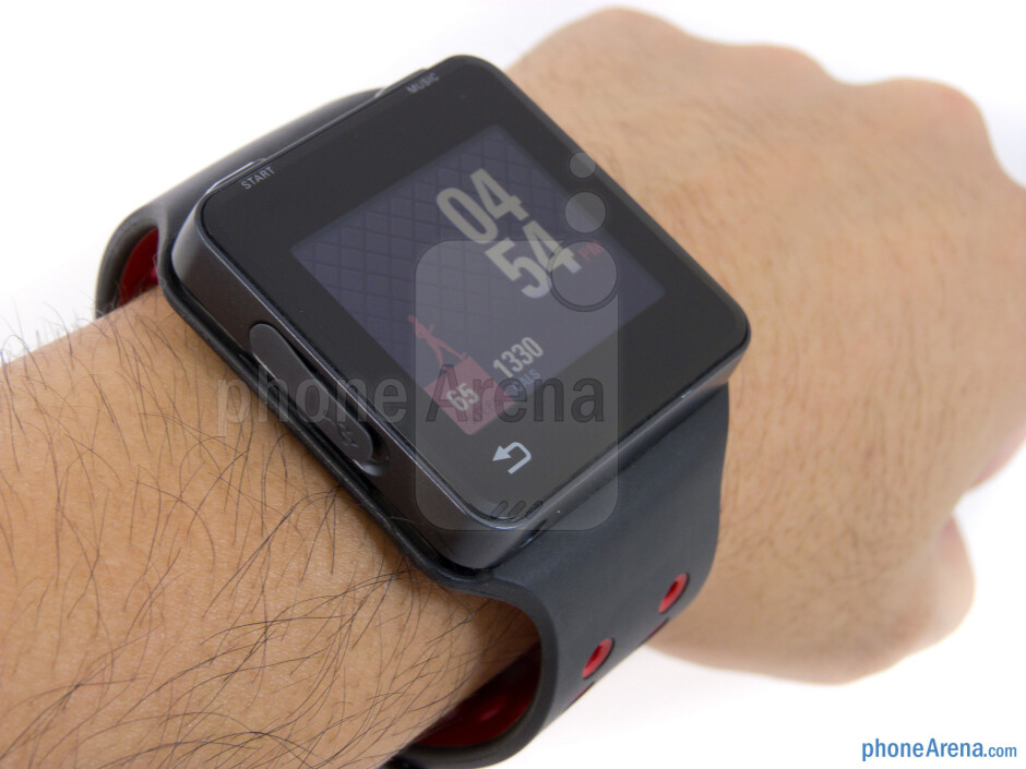 With the wristband, the Motorola MOTOACTV emulates the look of a high-tech watch - Motorola MOTOACTV Review