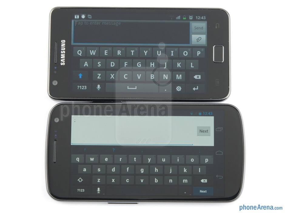 Samsung Galaxy Nexus (left, bottom) and Samsung Galaxy S II (right, top) - Samsung Galaxy Nexus vs Samsung Galaxy S II