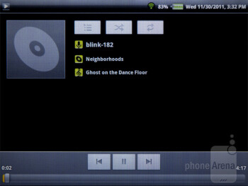 The stock Gingerbread music player - ViewSonic ViewPad 7e Review