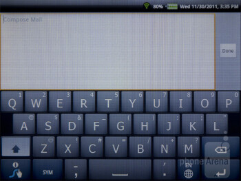 Virtual keyboards - ViewSonic ViewPad 7e Review