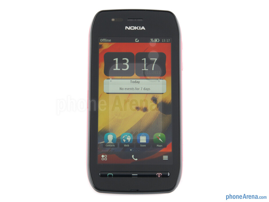 "The 3.5"" IPS-LCD display boasts 360x640 pixels of resolution - Nokia 603 Review"