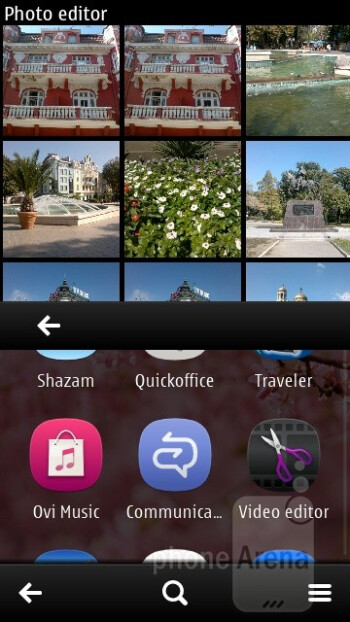 The preinstalled photo editing app - Nokia 603 Review