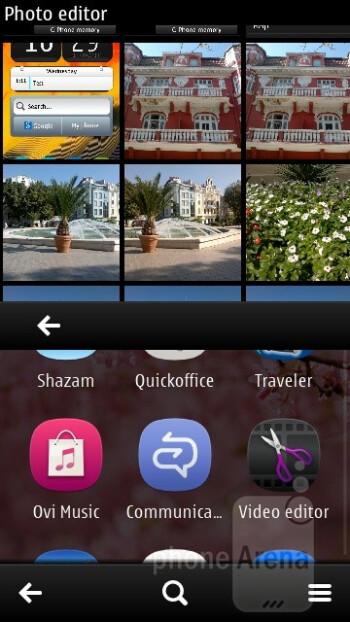 The preinstalled photo editing app - Nokia 603 Review