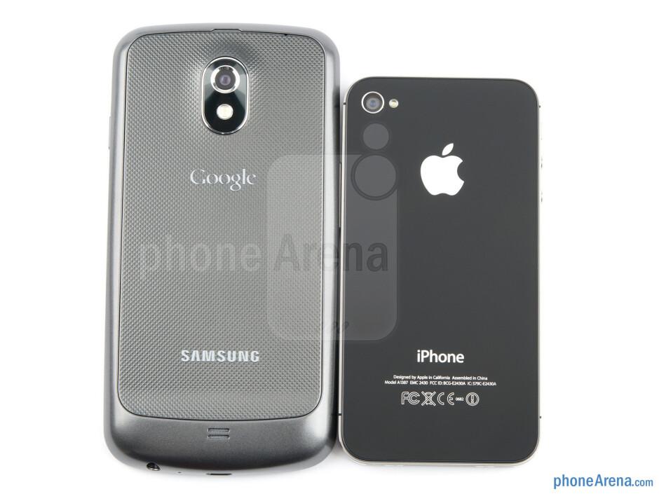 Samsung Galaxy Nexus (left, bottom) and Apple iPhone 4S (right, top) - Samsung Galaxy Nexus vs Apple iPhone 4S