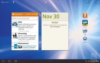 Running on top of Android 3.2 Honeycomb is the TouchWiz UX on the Samsung Galaxy Tab 8.9 LTE - Samsung Galaxy Tab 8.9 LTE Review